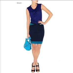 Karen Millen Jersey Knit Bodycon Dress Blue Size 3